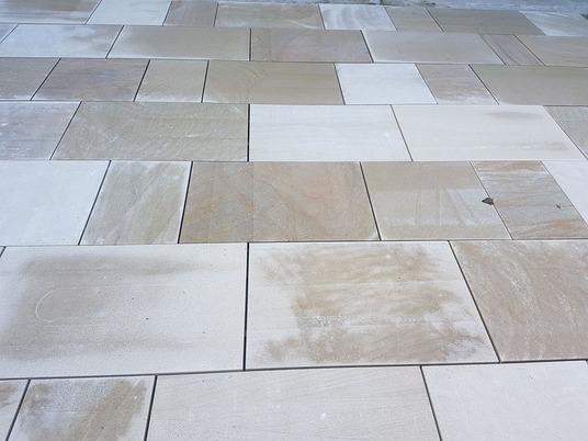 Mixed Yorkshire paving